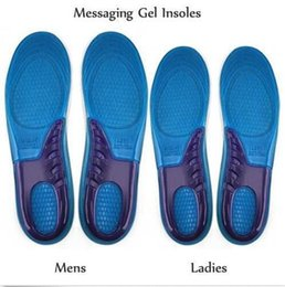 Wholesale Family Massages - 1000pcs=500pairs Women Men Size Silicone Gel Orthotic Arch Support Massaging Sport Shoe Insole Run Pad Free Shipping
