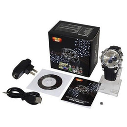 Wholesale Wrist Watch Camera Night - HD 1080P IR Night Vision Waterproof Hidden Spy Camera Watch Recorder Hidden DVR 8GB 16GB 32GB Spy Wrist Watch Cam Camcorders Security Camera