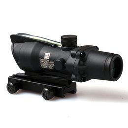 Wholesale 4x32 Rifle Scope - ACOG 4X32 Style Real Red or Green Fiber Source Duel Illuminated Rifle Scope