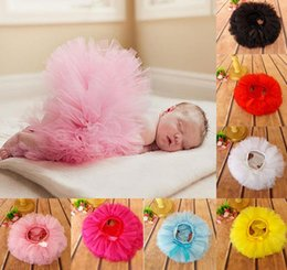 Wholesale Fashion Pantskirt - Infant Baby Cotton PP Shorts Lace Tulle Tutu Skirt Pantskirt Toddlers Kids Layers Party Culotte Divided Skirt Children Photo Prop Clothes