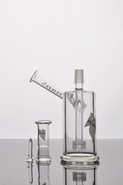 Wholesale cheap arm - Heady Hitman Glass Bongs with Birdcage Water Pipes Recycler Inclined Arm Oil Rigs Cheap Beaker Bong Free Shipping