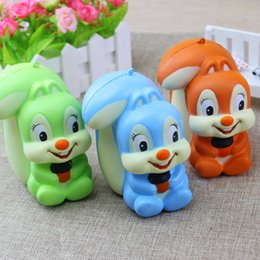 Wholesale Toys For Squirrels - New Jumbo 13CM Kawaii Squirrel Squishy Animal Super Slow Rising Phone Strap Soft Scented Bread Cake Kid Toy Gift