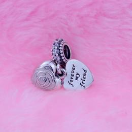 2019 corazon rosa pandora encantos colgantes El encanto original de la joyería de la plata esterlina 925 cuelga el encanto con el cz, esmalte rosado suave Se adapta a la pulsera de Diy del grano de la pulsera de Pandora 1pc / lot al por mayor corazon rosa pandora encantos colgantes baratos