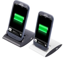 Wholesale Usb Otg Galaxy S3 - New Arrival 3 in 1 OTG USB Sync Battery Charger Dock Holder For Samsung Galaxy S3 I9300