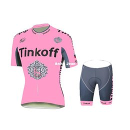 Wholesale Saxo Woman Cycling - Tour De France 2016 Tinkoff Saxo Bank Pink cycling jerseys bike wear bib shorts padded Women Female cycling jersey set XS-2XL