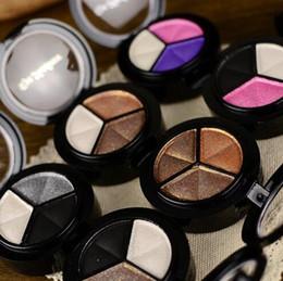 2019 зеркало для теней для век 3 цвета теней для век макияж палитра хорошее качество тонкая пудра дымчатые глаза металлические голые тени для век косметическое зеркало зеркало DHL Free дешево зеркало для теней для век