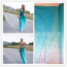 Wholesale Wholesale Dress Shirt Fabric - Clothing blouse T-shirt dress skirt silk chiffon fabric 100% polyester multicolor Gradient color wholesale retail free shipping crepe 75G