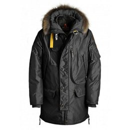 Wholesale White Wool Trench - Polar top quality Winter Jacket Men Down Jacket Warm Coat White Duck Fur Collar Trench Outwear Kodiak Hombre Long Parka
