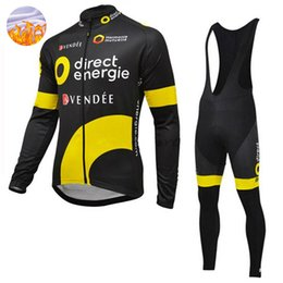 Wholesale Bike Energy - Direct Energy PRO TEAM Cycling Jersey Pants Set Ropa Ciclismo MTB Long Thermal Fleece Windproof Cycling Wear Bike Clothing Suit