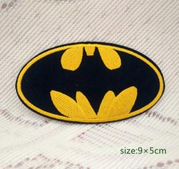 Wholesale Dc Comics Shirts - Batman Logo, DC Comics Embroidery Iron On Applique Patch Hero Cap Bag Shirt Kids Toy Gift baby Decorate Individuality 10pc