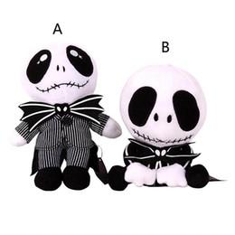 Wholesale Skeleton Child - 10 Inch Halloween Jack skeleton Plush Toys EMS 2 style 20-25cm children Anime Nightmare Before Christmas stuffed toys B