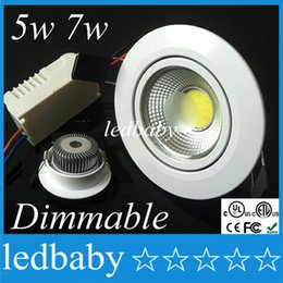 лампа Скидка Белая раковина 5W 7w вела DOWNLIGHTS удара Dimmable Сид утопило ul CE ROHS светильника света пятна теплый холодный белый AC110-240V