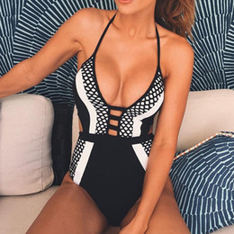 Wholesale Hong Kong Wholesales - Wholesale- 2016 sexy brazilian monokini swimsuit swimwear women one piece bodysuit swim suit bathing clothes hong kong