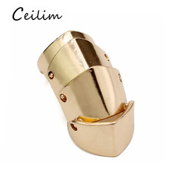 Wholesale Rock Bands Jewelry - Long Armor Ring With Gothic Punk Rock Personalize Gold Silver Joint Ring Hip Hop Jewelry Statement Rings For Men Fashion Gift Newest Arrival