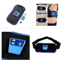 Wholesale Electronic Muscle Arm Leg - Dropshipping Electronic Gymnastic Device AB Muscle Exercise Toner Slim Fit Gymnic Arm Leg Abdom Waist Massager Body Shaper With Battery&Gel