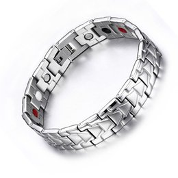 Wholesale Magnetic Bangle Male - Fashion Friendship Bracelet Femme Stainless Steel Health Magnetic Bracelets Bangle For Female Male Silver Jewelry Accessories Wrist Bands