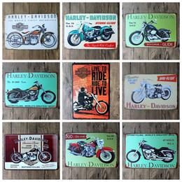 Wholesale Coffee Decorations - 2016 20*30cm classic retro motorider motorcycle Tin Sign Coffee Shop Bar Restaurant Wall Art decoration Bar Metal Paintings