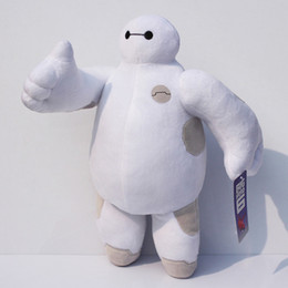 Wholesale Toy Moving Animal Doll - Wholesale-The BIG Hero 6 Baymax plush hands can be move dolls Baymax stuffed animal plush bececos toys 30CM or 20CM