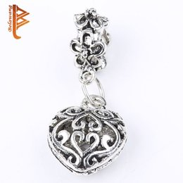 Wholesale Low Price Wholesale Beads - BELAWANG Lowest Price!Heart Pendant Charms 925 Silver Jewelry European Charms Bead Fit Original Charm Bracelets Snake Chain DIY Jewelry