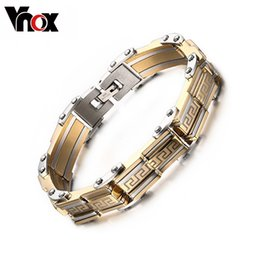 Wholesale Wholesale Luxury Gift Boxes - Wholesale-Luxury men bracelets & bangles charms bracelet for men jewelry silver & gold plated top workmanship gifts