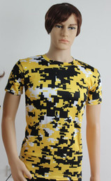 Wholesale Combat Shirt Free Shipping - hot selling air mail free shipping 2016 DIGITAL CAMO T-SHIRT MENS COMBAT CAMOUFLAGE ARMY MILITARY SPECIAL OPS FISHING