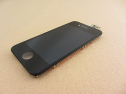 Wholesale Iphone 4s Middle Frame Assembly - LCD For iPhone 4S Front Assembly 4S Original LCD Display Touch Screen Digitizer Glass Panel Replacement With Middle frame Bezel