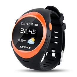 Wholesale German Brand Watches - Brand New ZGPAX S888 GSM Smart GPS Watch With WiFi Tracking Pedometer SOS Geo-fence Weather Forecast Anti-falling Alarm.