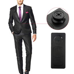 Wholesale Audio Vibration - 5pcs lot Portable Mini Spy Button DV Video Audio Recorder Hidden Camera with Vibration function Shirt Button Camera Covert Camcorder DV DVR
