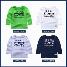 Wholesale Glasses Pattern For Kids - Boys Sweater Kids T-shirt Brand 2016 Fashion Baby Boys T shirt Long Sleeve Glasses Pattern T shirts for Boys Tops