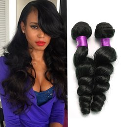 Wholesale Wavy Extentions - Brazilian Loose Wave Human Hair Extentions 7a Malaysian Brazilian loose Wave Virgin Hair 100g pc Natural Wavy loose Wave Human Hair Weaves