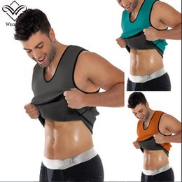 Wholesale Men Shapers - Body Shaper Man Slimming Belt Belly Men Hot Shapers Sweat Neoprene Waist Trainer Vest Cincher Waist Training Corsets Sport Top Plus Size