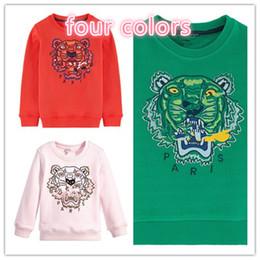 Wholesale Family Patterns - Children   Mum Tiger Pattern Embroidery Plus Velvet Sweater Family Sets