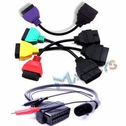 Wholesale Alfa Fiat Cable - Wholesale-MultiECUScan FiatECUScan Cable Adapters Engine Airbag ABS CAN Alfa Fiat ETC For Fiat Alfa Romeo And Lancia