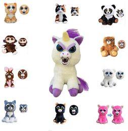 Wholesale Girls Toys For Christmas - Feisty Pets PlushToys Funny Expression Stuffed Animal Unicorn Horse Panda Animals Toys Doll for Girls Christmas Gift KKA3504