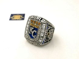 Wholesale Sphere Rings - 2015 2016 Kansas City Royals world series championship ring size 11 Cheap ring calendar High Quality ring sphere