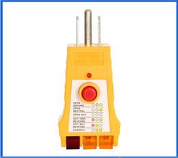 Wholesale Tester Leads - top quality LED Socket Safety Tester WH305 220V US plug socket socket insulation leakage testing socket wiring judgment meter