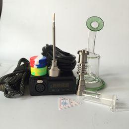 Trilhos elétricos on-line-Domeless enail para narguilé shisha elétrica e pregos dab rails para WAX óleo dab bobina de aquecimento com titânio prego bongo de vidro DHL