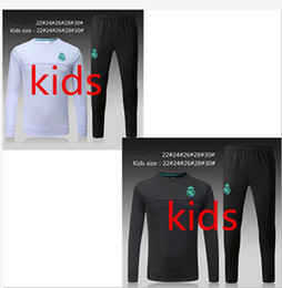 Wholesale Boys Black Jackets - Top quality 2017 2018 kids Real Madrid soccer jacket kits 17 18 RONALDO KROOS BENZEMA BALE ISCO MODRIC youth tracksuit jacket trainning suit
