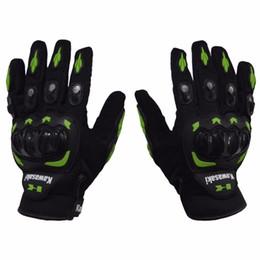 Wholesale Glove Motorcycle Full Finger - 1 Pair Kawasaki Full Finger Guantes Motorcycle Gloves Motorbike Luva Moto Motocicleta Motocross Guantes Gloves M L XL XXL