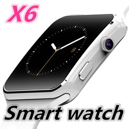Wholesale Dial Clocks - X6 Smart Watch Clock With Sim TF Card Slot Bluetooth suitable for ios Android Phone Smartwatch