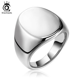 Wholesale Perfect Band - Cool Fashion Men's Perfect Polished Punk Style Solid Ring 316L Stainless Steel Ring for Men's Jewelry GTR05