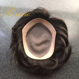 Wholesale Top Hair Hairpieces - New Arrival top grade remy indian hair toupee 8x10 Inch natural straight hairpiece replacement mono base top mens toupee free shipping