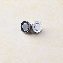 Esferas imán online-Accesorios bricolaje hebilla magnética el imán circular hebilla magnética collar de perlas 10 mm lisa hebilla magnética Esfera hebilla magnética manuf
