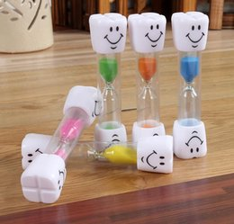 Wholesale Household Items Gifts - 100PCS 3 Minutes Smiling Face The Hourglass Decorative Household Items,Kids Toothbrush Timer Sand Clock Reloj De Arena Gifts