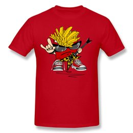 Wholesale Rocker T Shirts - Fries rocker cool mans t-shirt discount cotton tshirts on sell short sleeves T Shirt men plus size round neck.