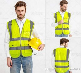 Wholesale Construction Clothing Wholesale - High Quality Reflective Safety Clothing Visibility Working Safety Construction Vest Warning Reflective traffic working Vest RS-06 Thickened