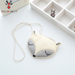 Wholesale Sheep Coin - Wholesale- Raged Sheep Lovely Children One Shoulder Bag Kids Coin Purse Cute Fox Girls Messenger Bag Baby Coin Bags