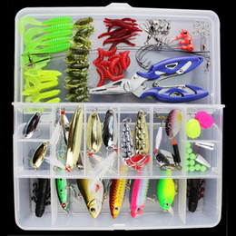 Wholesale Pencil Lures - Almighty Fishing Lure Kit Complete Set With Hard Lures Soft Bait Accessories Case Minnow Crank Pencil Popper Pliers 101 Pieces