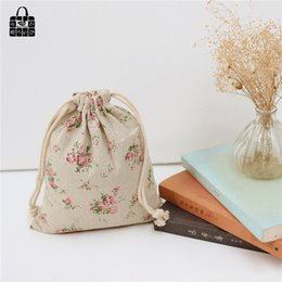 Wholesale Lady Style Toys - Wholesale- 1 pcs Rural style cotton linen fabric bag women Zero wallet child girl lady change purse, kids toy Mobile phone storage bags