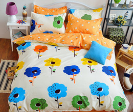 Wholesale Yellow Bedspreads Queen - Free Shipping 2016 New style Luxury bed set 4pcs duvet cover Bedding sheet bedspread pillowcase set Printed bedding sets